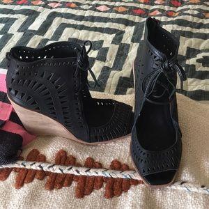 Jeffrey Campbell rodillo hi wedge cutout sandals